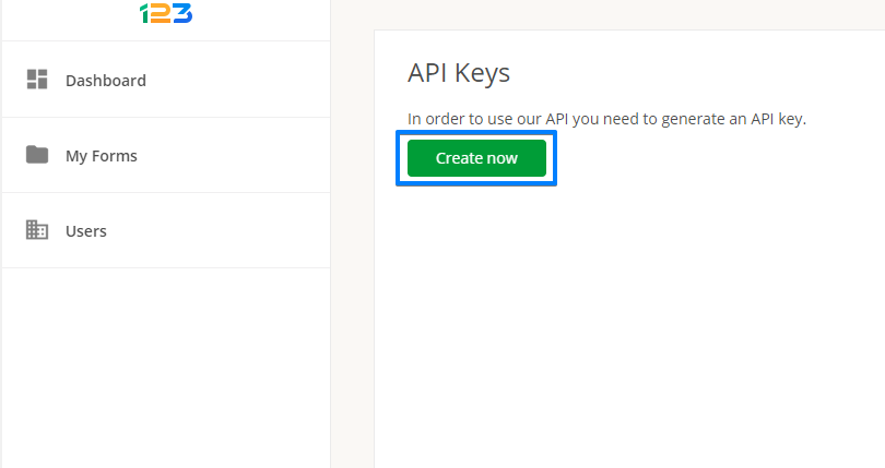 123FormBuilder what is the API Key