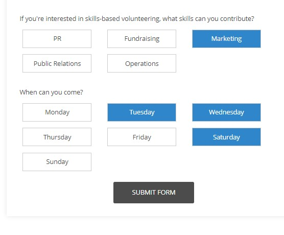 Make choices as clickable buttons