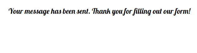 change font for thank you page