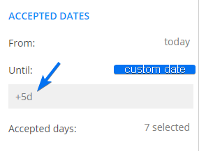 123FormBuilder how to accept certain days