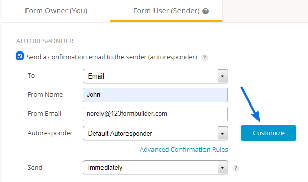customize autoresponder