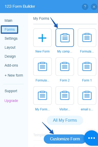 123FormBuilder web forms-Wix Code Database