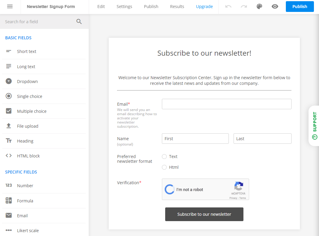 how to create a contact form