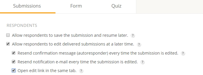 123FormBuilder edit delivered submissions at a later time