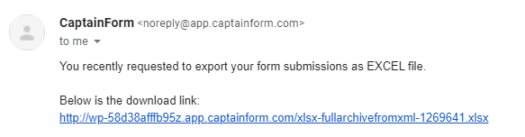 export to excel form submissions