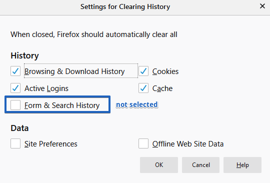 autofill form fields in Mozilla Firefox