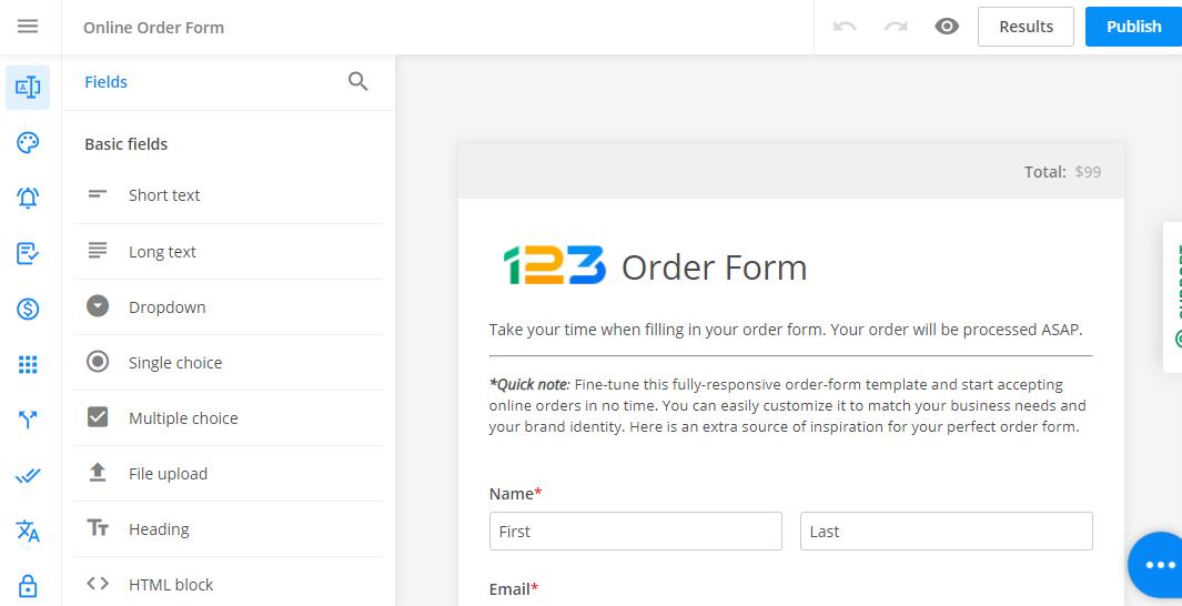 form editor