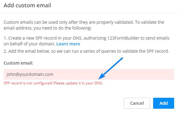 verify custom email
