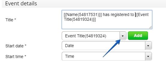 Google Calendar - Customize - title
