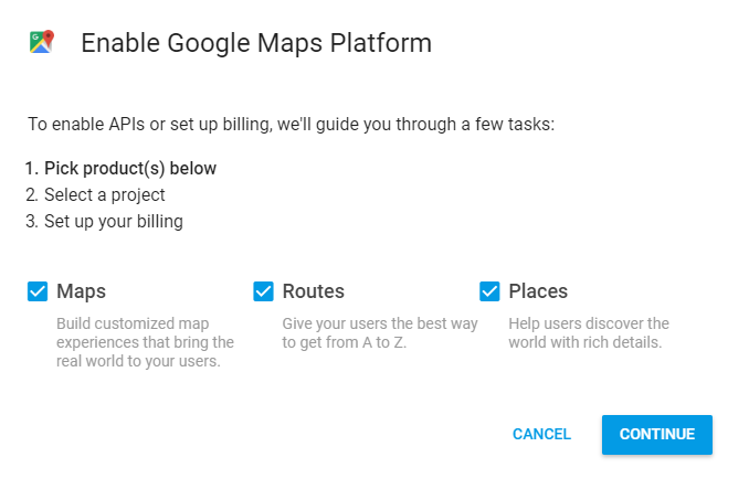 Google Maps API Key Integration