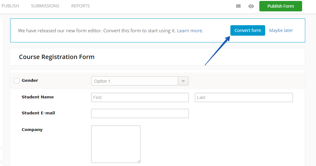 Import JotForm to 123Formbuilder web forms