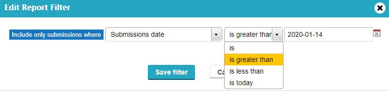 Filter report