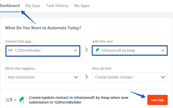 infusionsoft form integration