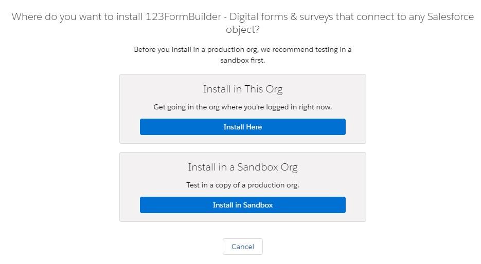 123Formbuilder Salesforce web forms