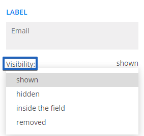 123FormBuilder Hide or show form labels