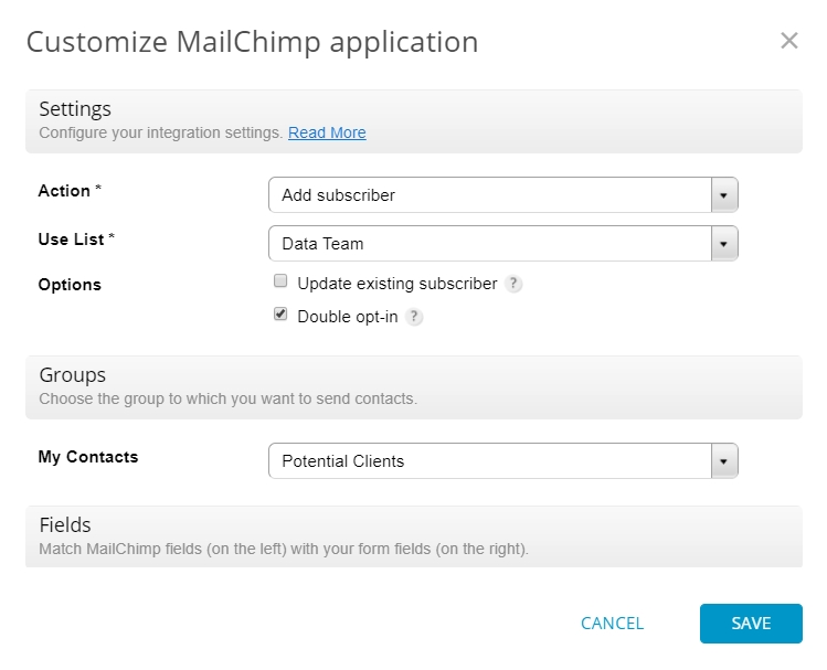 MailChimp Integration