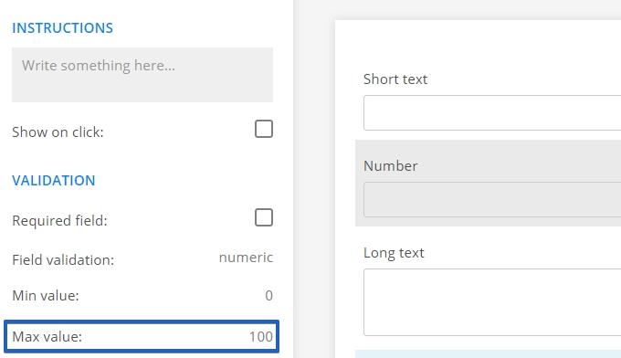 Limit input value
