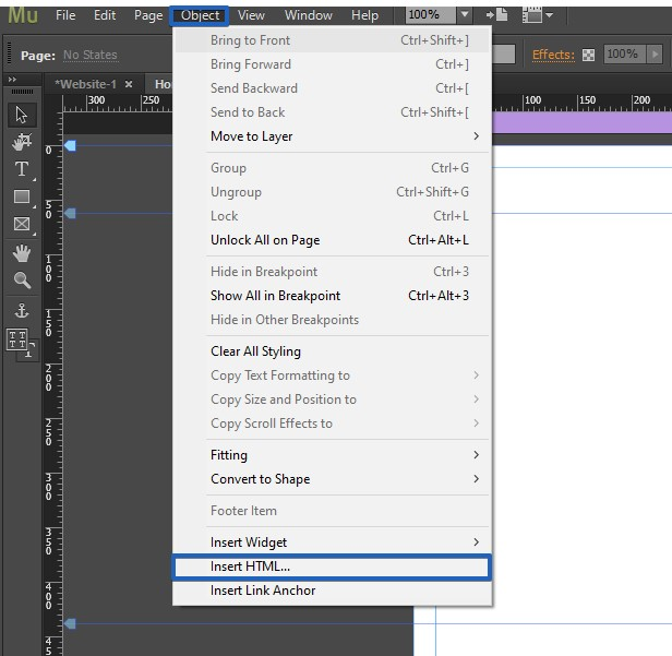 Embed web forms on Adobe Muse
