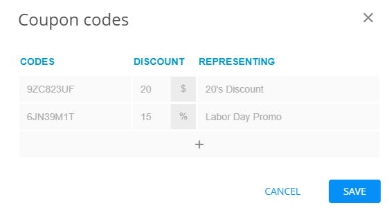 Complex Order Form - Coupon Codes