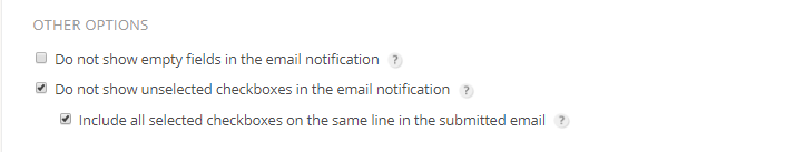 Exclude unticked checkbox from submitted email