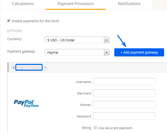 PayPal Payflow Integration