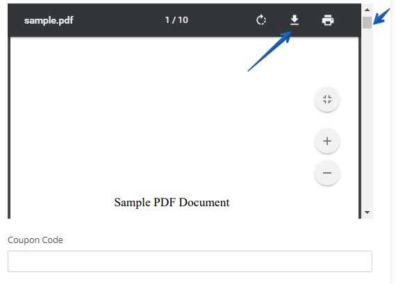 PDF embed field