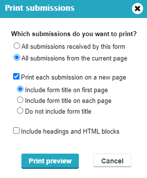 Print Submissions