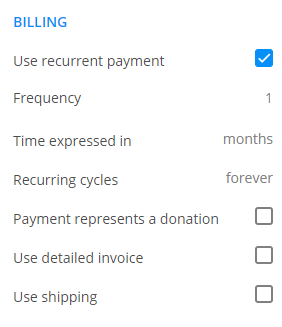 123FormBuilder recurrent payments