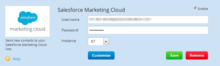 123FormBuilder - Salesforce Marketing Cloud Integrationn