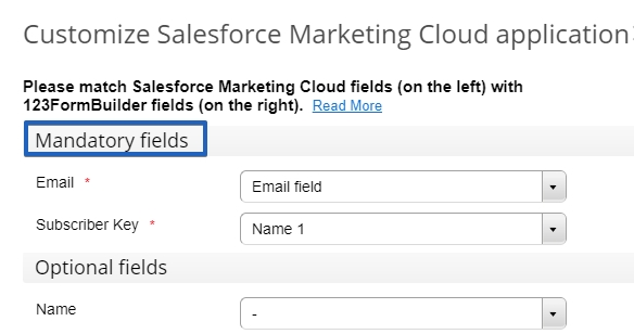 123FormBuilder - Salesforce Marketing Cloud - Customize