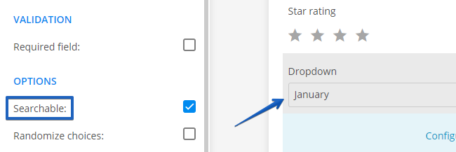 searchable dropdown