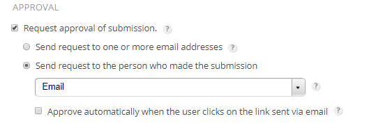 123FormBuilder self-approval submissions