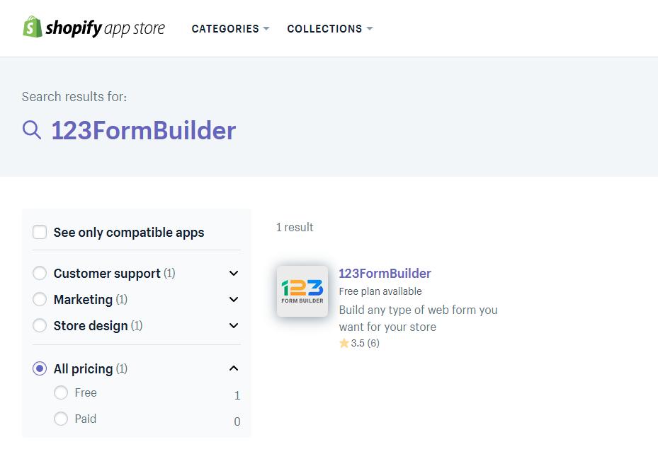 123FormBuilder App Store