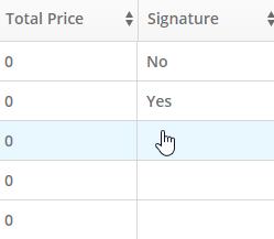 signature column