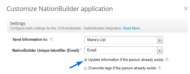 123FormBuilder NationBuilder error code 409