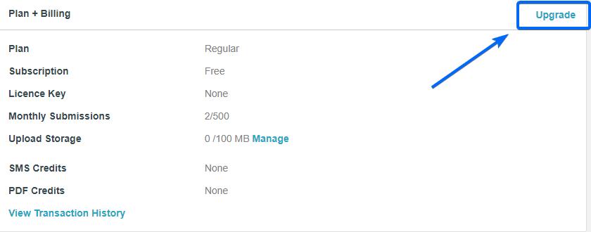 Upgrade Account - WordPress Form Creator Plugin