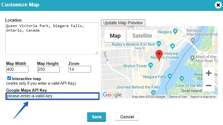 Google Maps API Key Integration