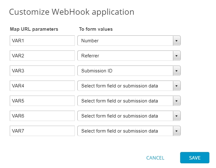 Connecting web forms to your server with Webhooks