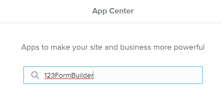 123 Form Builder for Weebly - Going to App Center