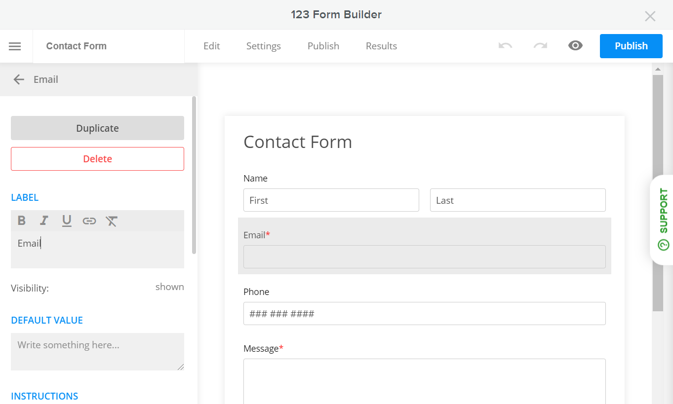 123 Form Builder for Weebly - Form Editor