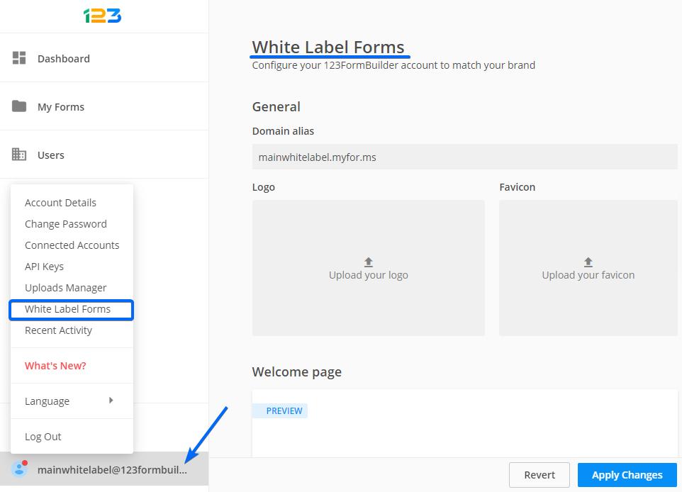 white label web forms