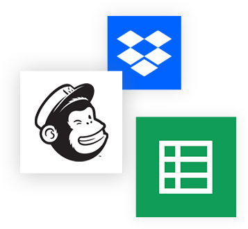 Dropbox, Mailchimp and Google sheet form integration for Weebly